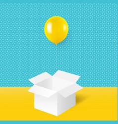 yellow balloons with white box vector image