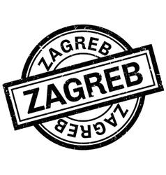 Zagreb rubber stamp vector