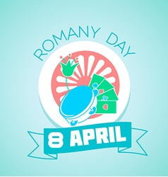 8 April Romany day vector image