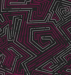 abstract pink tribal seamless pattern with grunge vector image vector image