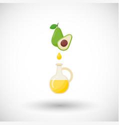 avocado oil flat icon vector image vector image