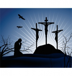crucifixion vector image vector image