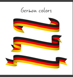 set of three ribbons with the german tricolor vector image