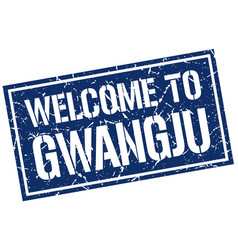 welcome to gwangju stamp vector image