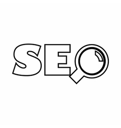 Word SEO icon outline style vector image vector image