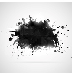 Abstract background with black paint splashes vector image vector image