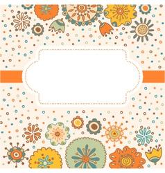 color decorative flower background vector image