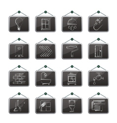 Construction and home renovation icons vector image