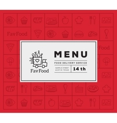 Favorite Food Delivery Abstract Logo And vector image