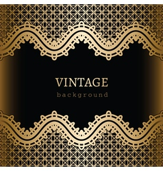 Gold lace background vector image