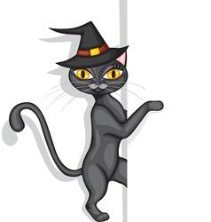 hallowen cat vector image vector image