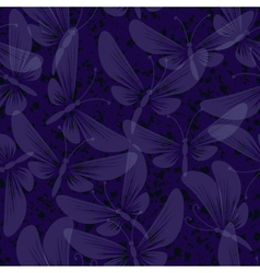 night moth butterflies seamless background vector image vector image