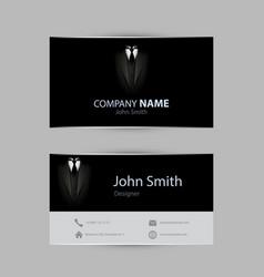 black tuxedo business card vector image vector image