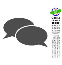 message clouds icon with set vector image vector image