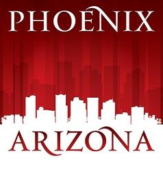 Phoenix Arizona city skyline silhouette vector image