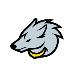Wolf head sign vector
