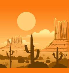 america wild west desert landscape vector image