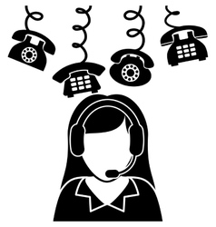 call center service icons vector image vector image
