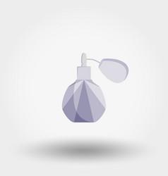 eau de toilette perfume icon flat vector image
