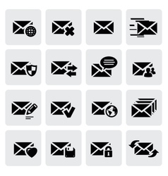 email icons vector image vector image