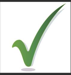 Green check mark isolated vector