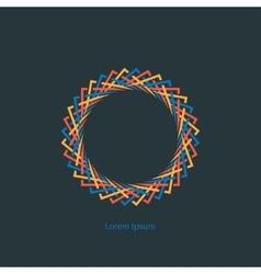 round monogram vector image