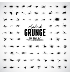 Set of grunge splashes vector image vector image