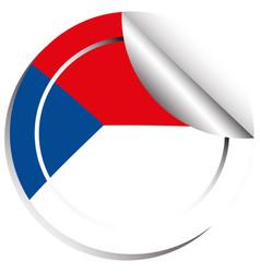 Sticker template for czech republic flag vector