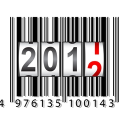 2012 new year counter barcode vector image