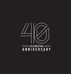 40th year celebrating anniversary emblem logo vector image