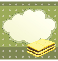 A stationery with a biscuit vector