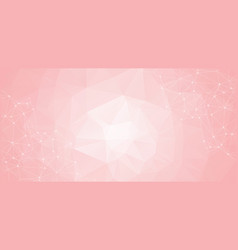abstract low poly pink technology background vector image