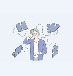 Alzheimer illness disease patients concept vector