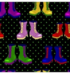 Ankle boots seamless pattern vector