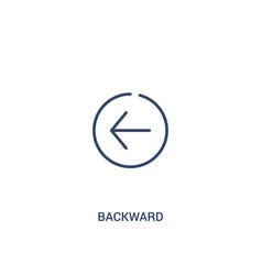 Backward concept 2 colored icon simple line vector