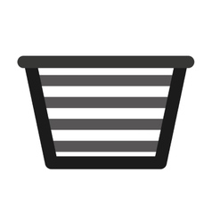Basket clothes isolated icon vector