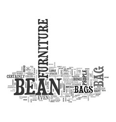 Bean bag furniture text word cloud concept vector