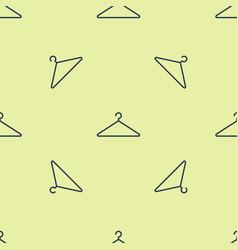 Blue hanger wardrobe icon isolated seamless vector