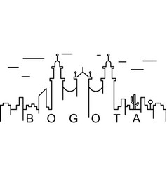 bogota outline icon can be used for web logo vector image
