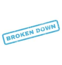 Broken Down Rubber Stamp vector