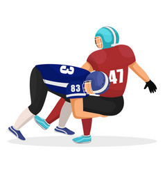brutal american football players gridiron game vector image