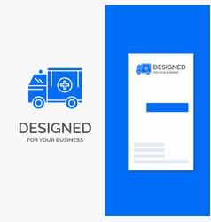 Business logo for ambulance truck medical help vector