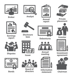 Business management icons pack 37 vector