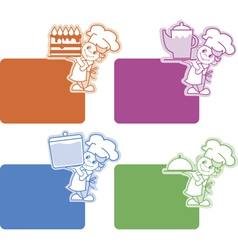Chef stickers vector