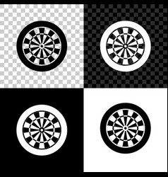 classic darts board with twenty black and white vector image