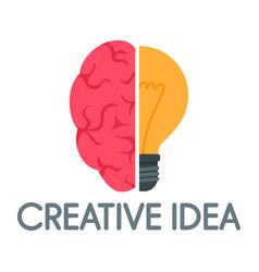 creative idea mind logo flat style vector image