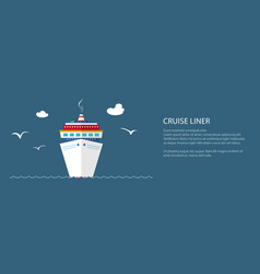 cruise ship at sea banner vector image