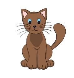 Cute Hand Drawn Brown Cat vector image