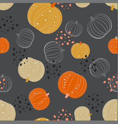 cute pumpkin pattern vector image