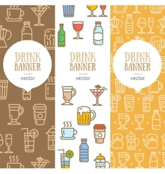 Drink Banner Flyer Vertical Set vector image